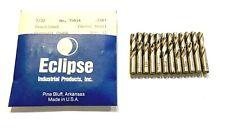 "Eclipse 7/32"" Center Drill High Speed Steel Centering Drills USA Made 12 Pack"