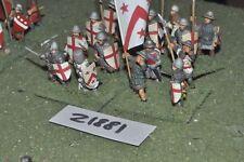 25 mm Medievale/inglese-smontata Men at arms 16 Fichi FANTERIA-INF (21881)