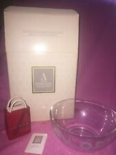 Nib Avon 24% Lead Crystal Hummingbird Collection 8 Inch Round Serving Bowl Paper