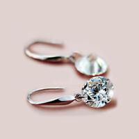 925 Sterling Silver Swarovski Crystal Elements 8mm Cubes Fish Hook Earrings