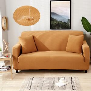 Waterproof and Oil Proof Anti-pet Sofa Cover Couch Covers Solid Color Stretch