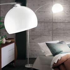 Bogen Steh Lampe Fuß Schalter Lese Leuchte Schirm weiß Decken-Fluter Esszimmer