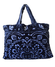Fresco Towels Royal Damask Large Tote Bag - Royal Blue By Artistico Towels