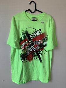 NEW VTG DS Dale Earnhardt Jr NASCAR Mtn Dew T Shirt XL All Over Print