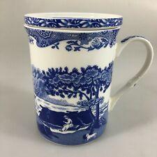 Spode Blue Italian Mug & Coaster Set 12 oz