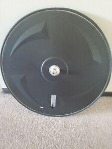 Carbon time trial triathlon disc wheel 700c 10 speed with zipp tubular tire