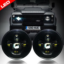 LED Black Projector Headlights Low/High Beam for Land Rover Defender (Set of 2)