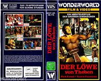 VHS -- Der Löwe von THEBEN -- (1964) - Mark Forest ( Pappschuber zerschnitten )