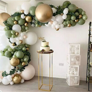 Sage Balloons+Balloon Garland Arch Kit Set Birthday Wedding Party Decorations AU