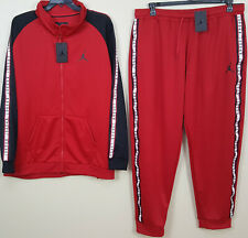 NIKE AIR JORDAN BASKETBALL SUIT JACKET + PANTS RED BLACK WHITE RARE (SIZE 4XL)