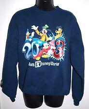 Disney Hanes Womens Size Medium Blue Sweater 2013 Mickey Donald Pluto Goofy