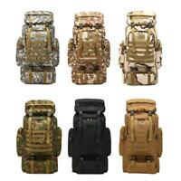 90L Waterproof Climbing Hiking Military Tactical Backpack Camping Bag Outdoor