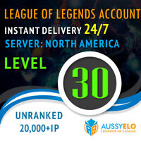 League of Legends Account LOL | NA | Level 30 | 20.000+ BE | 20k+ | Unranked