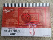 Wembley Over the Door Basketball Hoop-Backboard, Rim, Ball & Pump Nib Msrp $60