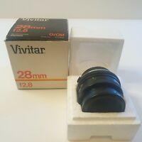 Vivitar 28mm f2.8 MC Olympus O/OM mount lens with original box
