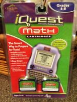 iQuest Math Cartridges for Grades 6-8 Ages 11-14 NEW *(A2)