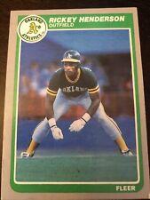 1985 Fleer Baseball #425 Rickey Henderson (A's) Ungraded
