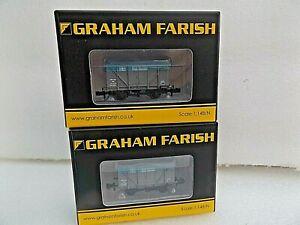 2 FARISH/BACHMANN 377-629 12T ZRB STORES VENT VAN  (BLUE & GREY ) BOXED  N GAUGE