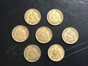 Lot de 7 pièces de  1 Franc Chambre de Commerce et d'Industrie
