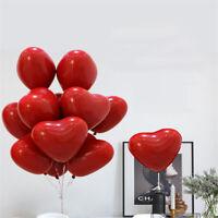 6/10Pcs Heart Love Latex Balloon Wedding Bridal Anniversary Birthday Party Decor