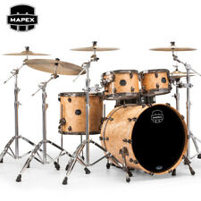 NEW Mapex SATURN V MH Exotic Rock 4pc Drum Set Shell Pack Natural Maple Burl