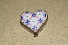 "<Ma> Antique Vintage Limoges Heart Shaped Box - 2 1/4"" - 1983"