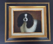 Vintage Ethan Allen Cavalier King Charles Spaniel Dog Painting Home Collection