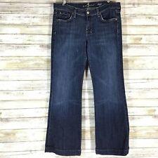 7 For All Mankind  Blue Dark Rinse Dojo Flare Leg Jeans U115380s-380s Size 29