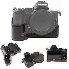 PU Leather Camera Case Protective Half Body Cover Base For Nikon Z5 Z6 Z7 Z50