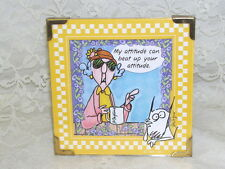 Framed Maxine Cartoon Print My Attitude Can Beat Up Your Attitude