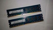 Hynix 8GB DDR3-2X4 GB 1600MHz 2RX8 PC3-12800U 240pin CL11 Deskop DIMM Free S&H