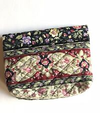 Handmade Fabric Small Bag Snap Back Closure Made With Metal Ruler Floral
