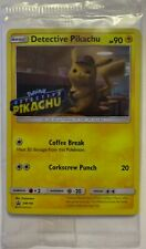 NEW POKEMON DETECTIVE PIKACHU PROMO CARD FOIL MINT IN PLASTIC SM190 FREESHIPPING