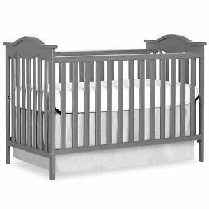 Dream On Me Bella Rose Classic Convertible Crib, Storm Grey