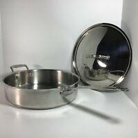 Cuisinart Sauté Pan w/ Helper Handle, Lid 5.5 Qt Stainless Steel 0812, # 773-30H