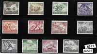 #6127    Complete MNH stamp set / 1943 Military set / Third Reich / WWII Germany