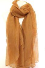 Bufandas y pañuelos de mujer marrones sin marca de poliéster
