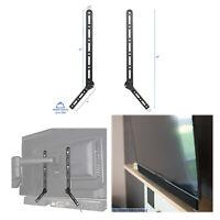 Universal Steel Sound bar Soundbar Speaker Bracket Mount Above TV Below TV Black