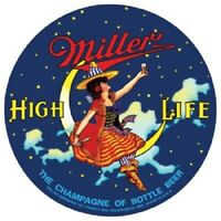 Miller High Life Beer Witch Framed Mirror Sign
