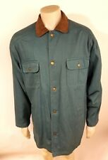 VNTG Woolrich Mens Blue Spruce Rivet Button Teal Jacket Coat Aztec Liner Large L