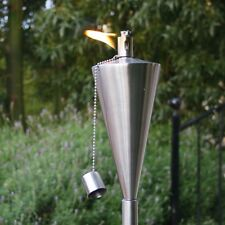 2x Brand new Boxed Garden Fire Torch - Oil / Paraffin Lantern - 115cm tall