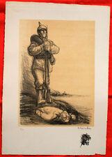Lithographie - Steinlen - Sous la botte - Guerre 14-18-