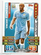 2015 / 2016 EPL Match Attax Base Card (150) Vincent KOMPANY Manchester City