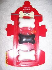 DOG BONE ERASER SET CARD BLISTER PACK PACKAGE FAVORS
