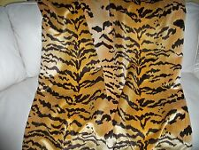 SCALAMANDRE LE TIGRE TIGER SILK VELVET FABRIC CUSTOM THROW