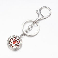 Essential Oil Aromatherapy Aroma Stainless Steel Gold Silver Key Ring Chain