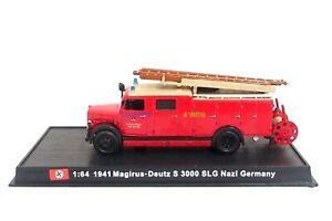 New 1:64 Diecast Fire Engine Germany Magirus Deutz S3000 SLG Nazi WW2 Fire Truck