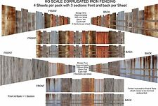 HO Scale Fencing Corrugated Iron Rustic Fencing Kit - CF1
