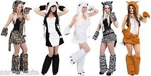 Eisbär Katzen Panda Bär Damen Kostüm Katze Katzenkostüm Leopard Tiger Zebra Sexy