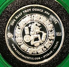 2012 Mayan Calendar First Majestic 1/2 Troy Oz .999 Fine Collectible Coin Round